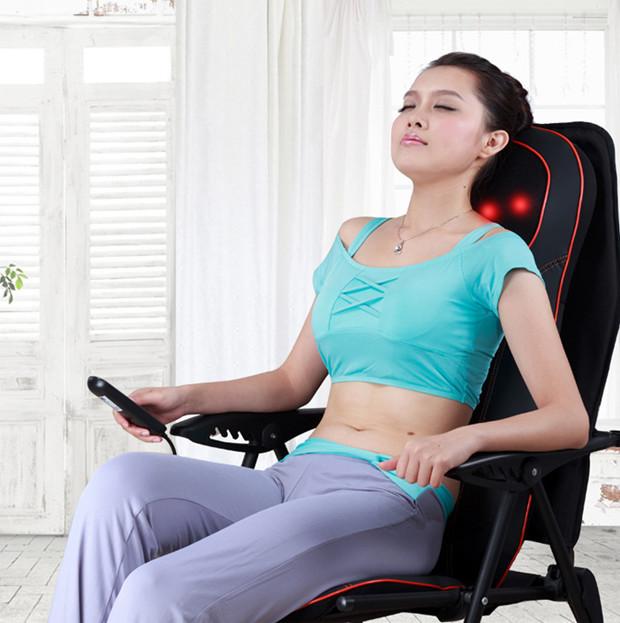 Đệm massage toàn thân, máy mát xa hồng ngoại giảm đau, ghế mát xa lưng Nhật Bản