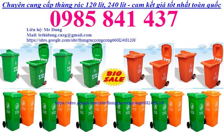 Cung cấp thùng rác công nghiệp 660 l, 240 l, 120 l - cam kết giá tốt nhất trường