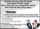 Tp. Hồ Chí Minh: Trường ĐHKT - Khoa Kinh tế Phát Triển CL1002895