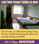 Tp. Hà Nội: Cho tổ chức, cá nhân thuê phòng trong KS mini, KV Đội Cấn-Giang Văn Minh CL1007992