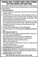 Tp. Hà Nội: Thông Báo Tuyển Sinh Liên Thông Từ Cao Đẵng Lên Đại Học CL1002895