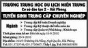 Tp. Hải Phòng: Trường Trung học Du lịch miền Trung Tuyển sinh Trung cấp chuyên nghiệp CL1002895