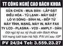 Tp. Hà Nội: TT Công nghệ cao Bách Khoa Sửa Chữa - Mua Bán - Lắp Đặt CL1017644