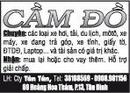 Tp. Hồ Chí Minh: CẦM ĐỒ Chuyên: các loại xe hơi, tải, du lịch, môtô, xe máy, xe đang trả góp CL1002738