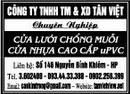 Tp. Hải Phòng: Công ty TNHH TM & XD Tân Việt Chuyên nghiệp:Cửa lưới chống muỗi,Cửa nhựa cao cấp CAT246_258_263