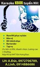 Tp. Hà Nội: Nam NV phục vụ bàn, bảo vệ, NV chỉnh nhạc, bartender, tạp vụ, cho karaoke KBox, CL1002886