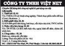 Tp. Hồ Chí Minh: Công Ty TNHH Việt Net Cần Tuyển CL1002979