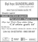 Tp. Đà Nẵng: Đại học SUNDERLAND - Vương quốc Anh Đào Tạo Cử Nhân Quốc Tế CL1022477