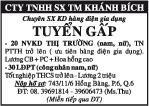CTy TNHH sx tm Khánh Bích