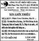Tp. Hồ Chí Minh: Công Ty Cổ Phần Việt CaNa CL1023035