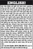 Tp. Hồ Chí Minh: GS Việt Kiều với gần 40 năm kinh nghiệm sống tại Mỹ từ nhỏ.Nhận dạy kèm Anh Văn CL1004007