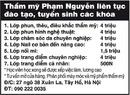 Tp. Hà Nội: Thẩm mỹ Phạm Nguyễn liên tục đào tạo, tuyển sinh các khóa: CAT12P9