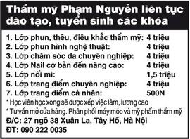 Thẩm mỹ Phạm Nguyễn liên tục đào tạo, tuyển sinh các khóa: