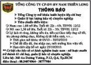 Tp. Hồ Chí Minh: Tổng Công Ty CP- DV – BV Nam Thiên Long CL1010118