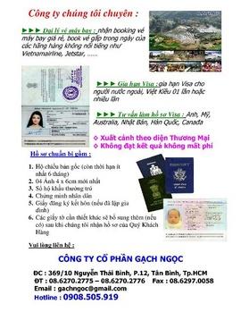 Nhận làm visa :Mỹ-Canada-Úc-Hàn-Nhật, đi theo diện TM ,làm trước trả tiền sau