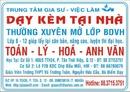Tp. Hồ Chí Minh: Nhận dạy kèm tại nhà tất cả các môn từ lớp 1 đến lớp 12, LTÐH CL1043547