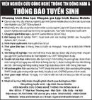 Tp. Hà Nội: Viện Nghiên Cứu Công Nghệ Thông Tin Đông Nam Á Thông Báo Tuyển Sinh CL1002895