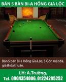 Tp. Hà Nội: Bán 5 bàn Bi-a Hồng Gia Lộc, S.Gòn mặt đá, giá thỏa thuận. CAT2_248P8