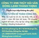 Tp. Hà Nội: Công Ty XNK Thủy Hải Sản Đông Lạnh Thành Thịnh (Tuyển trực tiếp không thu phí) RSCL1635658