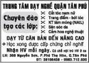 Tp. Hồ Chí Minh: Trung Tâm Dạy Nghề Quận Tân Phú Chuyên đào tạo các lớp CAT12P3