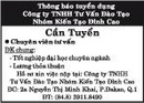 Tp. Hồ Chí Minh: Công ty TNHH Tư Vấn Đào Tạo Thông báo tuyển dụng CL1016013