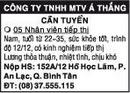 Tp. Hồ Chí Minh: Công Ty TNHH Một Thành Viên Á Thắng Cần Tuyển CL1016290