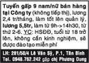 Tp. Hồ Chí Minh: Tuyển gấp 9 nam/nữ bán hàng tại Công ty (không tiếp thị), lương 2,4 tr/tháng CL1018022P4