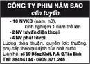 Tp. Hồ Chí Minh: Công ty Phim Năm Sao cần tuyển CL1018022P4