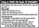 Tp. Hồ Chí Minh: Công ty TNHH TM Quốc Tế VINABEST kinh doanh máy rửa xe mini Cần tuyển CL1018022P4