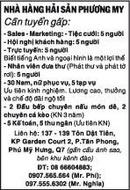 Tp. Hồ Chí Minh: Nhà Hàng Hải Sản Phương My Cần tuyển gấp CL1018022P4