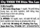 Tp. Hồ Chí Minh: Cty TNHH TM Điện Tân Lực Cần tuyển CL1018022P4