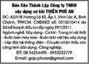 Tp. Hồ Chí Minh: Báo cáo thành lập Công ty TNHH xây dựng cơ khí THIÊN PHÚ AN. CL1174849