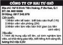 Tp. Hồ Chí Minh: Công ty CP Hai Tư Giờ Cần tuyển Nhân viên kế toán : biết báo cáo thuế RSCL1111107
