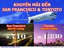 Tp. Hồ Chí Minh: Vé máy bay khuyến Mãi đến Mỹ & Toronto (Canada) CAT246_255_308