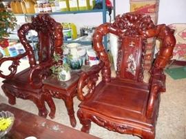 Bàn ghế gỗ giả cổ phòng khách! giá thanh lý!