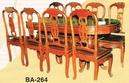 Tp. Hồ Chí Minh: Bộ bàn ăn gỗ tự nhiên mỹ nghệ giá rẻ CAT2