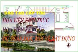 Bạn muốn học họa viên kiến trúc cấp tốc-gọi kiến trúc sư LIÊU HOÀNG