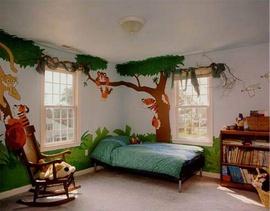 Vẽ Tranh tường phòng khách giá cực rẻ