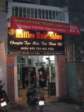 Nhân dịp khai trương RAFFLES HAIR SALON giảm giá 20% trên tổng bill cho tất cả