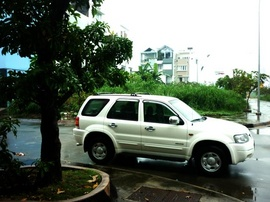 Bán xe Ford Escape máy 2.0 ít hao xăng, số sàn, màu trắng, rin toàn bộ,
