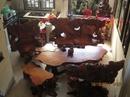 Tp. Hồ Chí Minh: Cần bán bộ ghế gỗ gõ đỏ, làm từ góc cây được chạm khắc hình con rồng quấn quanh, CAT2_4