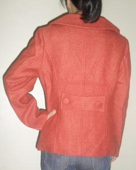 Áo khoác phao nữ màu đỏ cam
