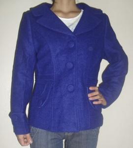 Áo dạ nữ xanh