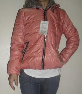 Áo phao nữ màu hồng