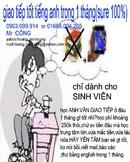 Tp. Hồ Chí Minh: GIAO TIẾP tốt Anh văn trong 1 tháng( sure 100%) CL1070590