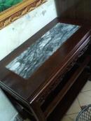 Tp. Hà Nội: Bán 01 bàn mặt đá và 06 ghế đôn, gỗ Gụ ( có ảnh đính kèm). Giá 3,5 triệu tất cả. CL1068164
