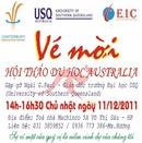 Tp. Hải Phòng: Công ty CP QT Huy Hoàng tổ chức hội thảo du học Australia. Vào hổi 14h ngày 11/ 12 CL1128874P3