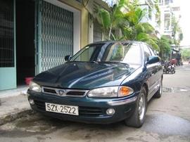 Mitsubishi Proton đời 97, màu xanh, động cơ 4 máy 1. 6, phun xăng điện tử, xe nhỏ