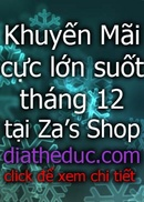 Tp. Hà Nội: khuyến mãi suốt tháng 12 cực lớn tại diatheduc. com CL1057355