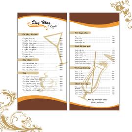 In túi đũa, lót ly, order, menu nhà hàng, tờ thực đơn .. .